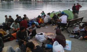 Σούλτς και Αβραμόπουλος στη Μυτιλήνη για τους πρόσφυγες