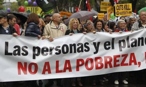 Χιλιάδες διαδηλωτές κατά της ΤΤΙΡ κατέκλυσαν τη Μαδρίτη