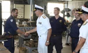 Επίσκεψη Αρχηγού ΓΕΝ στο Ναύσταθμο Κρήτης (pics)