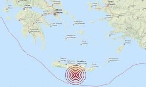 Σεισμός 3,4 Ρίχτερ νότια της Κρήτης (pic)