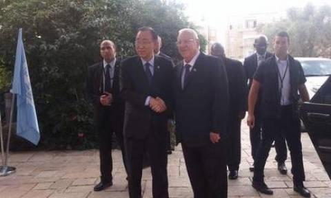 Επίσκεψη του Μπαν Κι-μουν σε Ισραήλ και παλαιστινιακά εδάφη και έκκληση για αποκλιμάκωση της έντασης