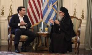 Συνάντηση Τσίπρα με  Αρχιεπίσκοπο Αμερικής, Δημήτριο.