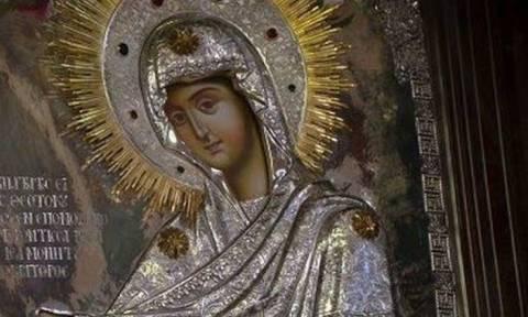 Υποδοχή της εικόνας της Παναγίας της «Γερόντισσας» στο ναό Κοιμήσεως της Θεοτόκου Επανομής