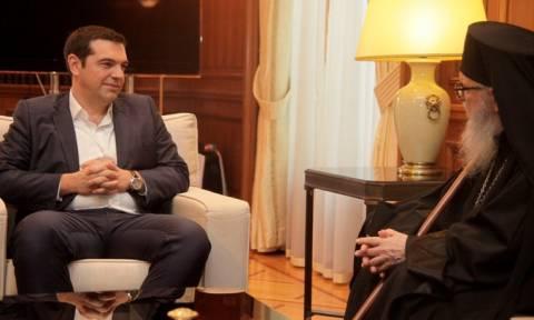 Συνάντηση Τσίπρα με τον Αρχιεπίσκοπο Αμερικής Δημήτριο