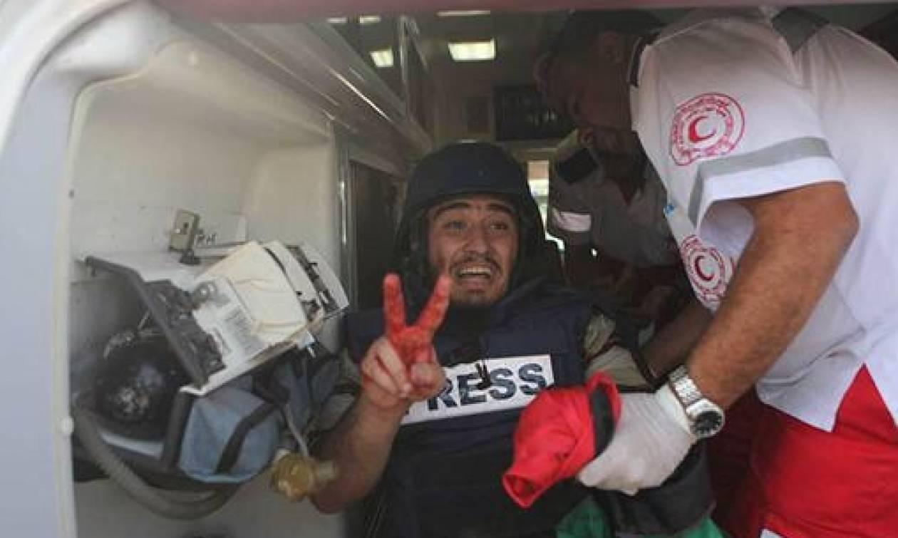Φωτορεπόρτερ τραυματίστηκαν από αδέσποτα πυρά στη Γάζα