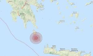 Σεισμός 3,6 Ρίχτερ νότια των Κυθήρων (pic)