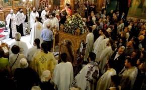 Υπoδοχή της εικόνας της Παναγίας Σουμελά στον Αγ.Δημήτριο Νέας Ελβετίας Βύρωνος