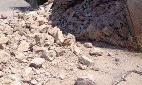 Κατέρρευσε μονοκατοικία στο Καματερό λόγω της κακοκαιρίας