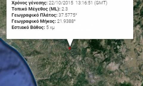 Σεισμική δόνηση 3,7 Ρίχτερ στην κεντροδυτική Πελοπόννησο