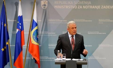 Αβραμόπουλος: Η Κομισιόν θα στηρίξει τη Σλοβενία για τη διαχείριση της προσφυγικής κρίσης