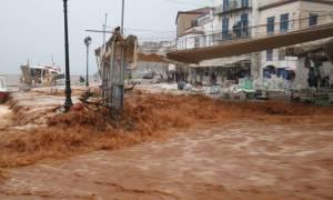 Κακοκαιρία: Βιβλική καταστροφή στην Ύδρα (photos&video)