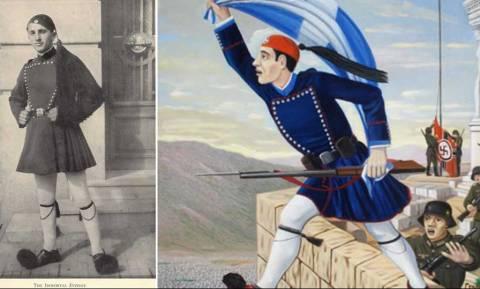 Ο αθάνατος Εύζωνας που προτίμησε την αυτοκτονία παρά να παραδώσει τη σημαία στους Γερμανούς!