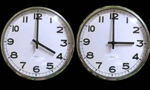 Αλλαγή ώρας: Την Κυριακή μια ώρα πίσω οι δείκτες των ρολογιών