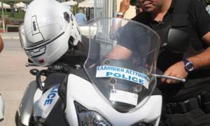 Εκτός υπηρεσίας... η μια στις τρεις μοτοσικλέτες της ΔΙΑΣ!