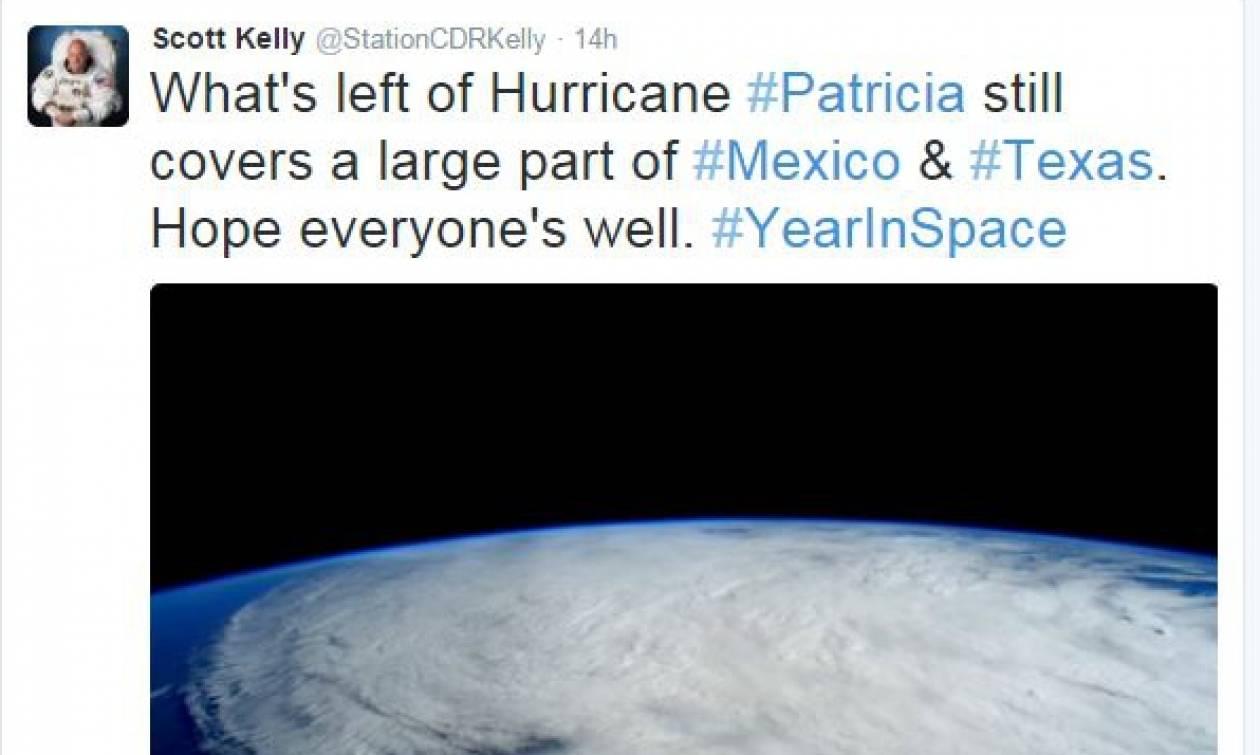 Ο τυφώνας Πατρίσια από το διάστημα (photos)