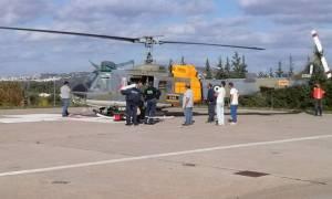 Αεροδιακομιδή 65χρονου ασθενή από τη Γαύδο στο νοσοκομείο Χανίων
