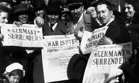 Σαν σήμερα το 1918 τελειώνει ο Α΄ Παγκόσμιος Πόλεμος