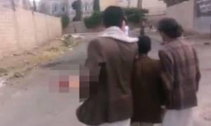 Σκληρό βίντεο: Τζιχαντιστής καμικάζι κόπηκε στα δύο μετά από αποτυχημένη επίθεση αυτοκτονίας