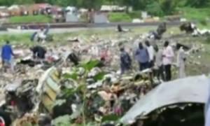 Νότιο Σουδάν: Οι πρώτες εικόνες από τη συντριβή του αεροσκάφους (vid)