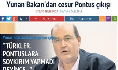 Οι Τούρκοι υμνούν τη... γενναιότητα του Φίλη για τη γενοκτονία των Ποντίων!