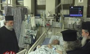 Συγκλονίζει η επίσκεψη του Πατριάρχη Θεόφιλου στον ασθενή τέως Πατριάρχη Ειρηναίο