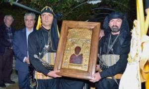 Υποδοχή εικόνας Παναγίας Σουμελά στη Μονή Εισοδίων της Θεοτόκου Μυρτιάς Τριχωνίδος
