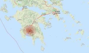 Σεισμός 4 Ρίχτερ βόρεια της Καλαμάτας