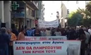 Πάτρα: Ένταση μεταξύ ΣΥΡΙΖΑ και ΛΑΕ στην απεργία – Μπογιές στα γραφεία του ΣΥΡΙΖΑ Αχαΐας (video)