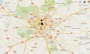 Τρομοκρατικη επίθεση Γαλλία: Αυτός είναι ο χάρτης των επιθέσεων