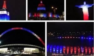 Επίθεση Παρίσι: Όλος ο κόσμος στα χρώματα της γαλλικής σημαίας...
