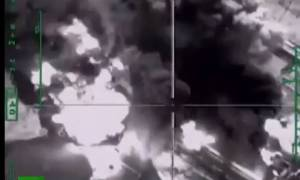 Ρωσικά μαχητικά τινάζουν στον αέρα διυλιστήριο πετρελαίου των τζιχαντιστών (video)