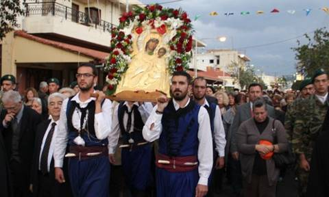 Η Παναγία Βηματάρισσα από την Μονή Βατοπεδίου στην Κίσαμο