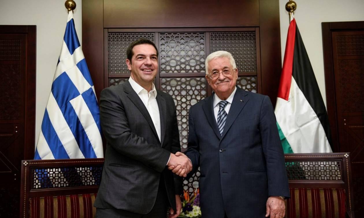 Τσίπρας-Αμπάς: Το ελληνικό κοινοβούλιο θα αναγνωρίσει το παλαιστινιακό κράτος