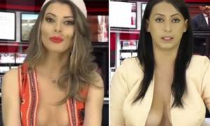 H (σχεδόν) τόπλες παρουσιάστρια της Αλβανίας αντικαταστάθηκε με μια λιγότερο ντυμένη! (video)