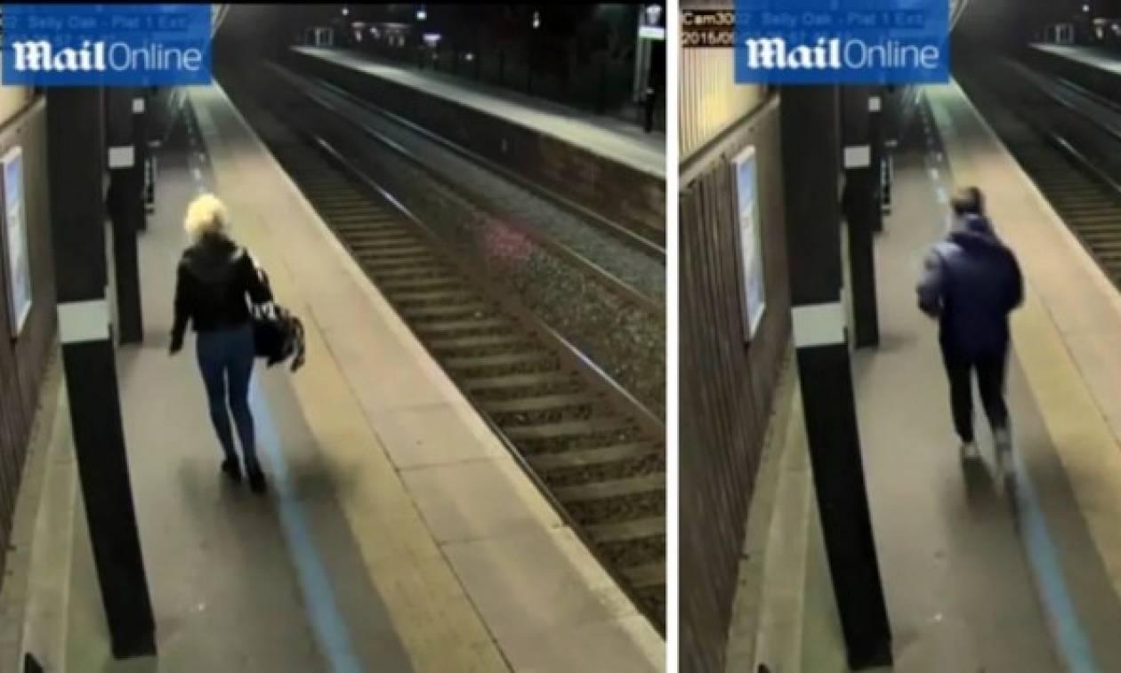 Ανατριχίλα στο σταθμό: Άνδρας κυνήγησε 22χρονη (video)