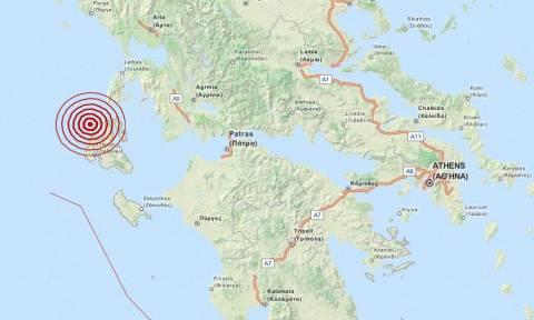 Σεισμός 3,4 Ρίχτερ δυτικά της Κεφαλονιάς