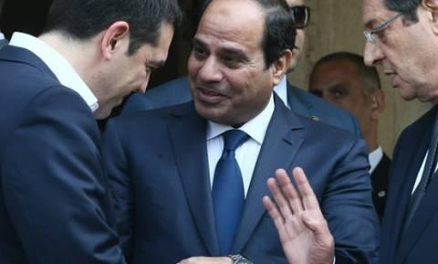 Συνάντηση Τσίπρα με τον Αιγύπτιο Πρόεδρο