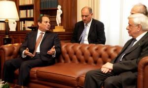 Συνάντηση Παυλόπουλου με τον πρόεδρο της Αιγύπτου