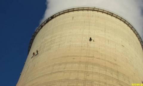 Διαμαρτυρία ακτιβιστών της Greenpeace σε πύργο ψύξης του ΑΗΣ Αγίου Δημητρίου (video)