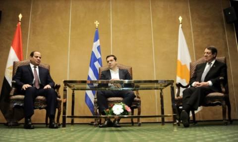 Τσίπρας: Μήνυμα ειρήνης και σταθερότητας η συνεργασία Ελλάδας - Κύπρου - Αιγύπτου