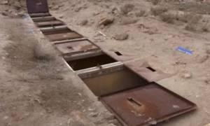 Φρίκη: Tα υπόγεια μπουντρούμια όπου οι τζιχαντιστές κρατούσαν φυλακισμένες γυναίκες στην έρημο (vid)