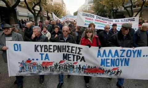 Θεσσαλονίκη: Συγκέντρωση και πορεία συνταξιούχων κατά των περικοπών στις συντάξεις