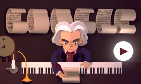 Λούντβιχ Βαν Μπετόβεν: Η google τιμάει με doodle τα 245 χρόνια από τη βάφτισή του (vid&pics)