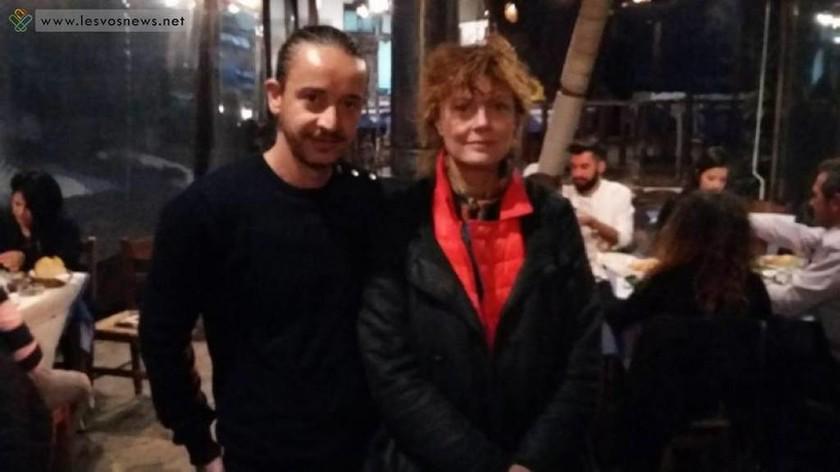Στη Σκάλα Συκαμνιάς η Σούζαν Σαράντον προς συμπαράσταση των προσφύγων (photo)