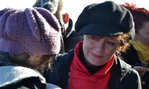 Σε λυγμούς ξέσπασε η Σούζαν Σάραντον στη Μυτιλήνη! (photos)