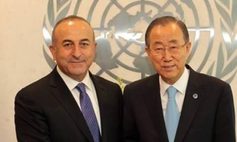 Κυπριακό: Τι είπαν Μπαν κι Μουν-Τσαβούσογλου στη Ν.Υόρκη