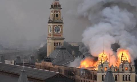 Βραζιλία: Ένας νεκρός από μεγάλη φωτιά στο Μουσείο Πορτογαλικής Γλώσσας (pic+vid)