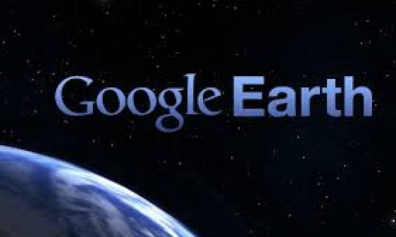 Στο Google Earth το ορεινό τμήμα του Ευρωπαϊκού μονοπατιού Ε4 που διέρχεται την ορεινή Αρκαδία