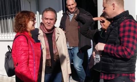 Συνάντηση Μουζάλα με τη Σούζαν Σάραντον στη Λέσβο