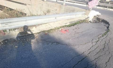 Δρόμος - παγίδα πάνω από τον ΒΟΑΚ στον Γαλατά Χανίων
